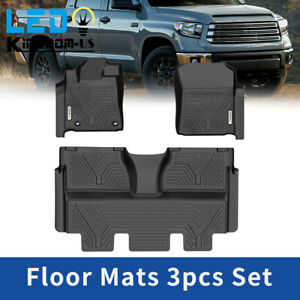 All Weather Floor Mats For 2014 2021 Toyota Tundra Crewmax Cab Full Coverage Set