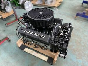383 Stroker Crate Engine A C 511hp Roller Turnkey Pro Street Chevy Sbc 383 383