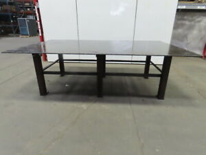 Steel Welding Work Bench Assembly Layout Table 120 lx 72 wx 37 h 5 8 Thick Top
