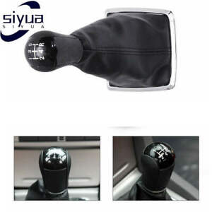 5speed Black Gear Shift Knob Stick Gaiter Boot For Ford Focus Mondeo Mk3 Mustang