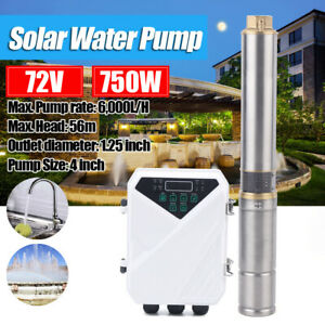 4 Dc Solar Water Pump Submersible Mppt Controller Deep Bore Well 72v 750w Hot