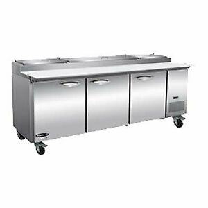 Ikon Ipp94 94 Three Section Refrigerated Pizza Prep Table 32 Cu Ft