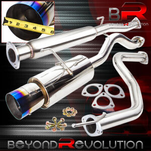 For 92 00 Honda Civic Coupe Sedan 2 5 3 Racing Exhaust Catback System Burn Tip