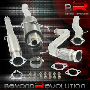 For 1994 1997 Accord 4cyl 3 Performance Catback Exhaust System Muffler Gunmetal