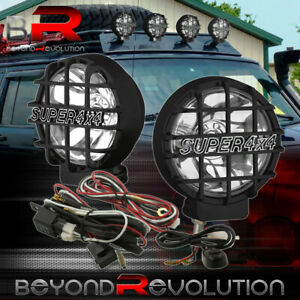 For Jeep Atv Suv Boat 4x4 Offroad 6 Round Hid Fog Headlamp Spot Lights Assembly