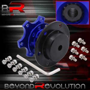 Jdm Vip Competition Racing Steering Wheel Quick Release Hub Bolt On Tuning Blue