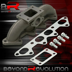For 94 02 Accord Turbo Charger Cast Exhaust Header Manifold T3 T3t4 Flange 4cyl