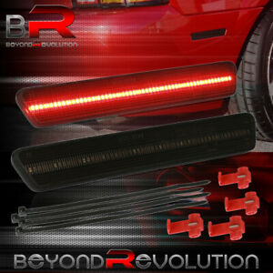 For 1999 2004 Mustang Sn 95 Red Led Smoked Rear Bumper Side Marker Light Lamp