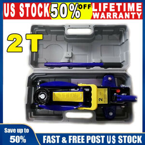 Low Profile Floor Jack 2 Ton Lift Aluminum Steel Auto Car Rapid Lifting 3000lbs