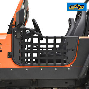 Eag Matrix Steel Tube Door With Mirror Pair Fit For 76 95 Jeep Cj7 Yj Wrangler