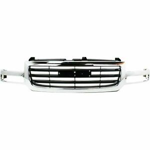 Grille For 2003 2007 Gmc Sierra 1500 2003 Sierra 1500 Hd Chrome Plastic