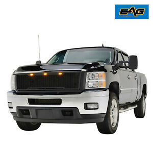 Eag Led Replacement Grill Mesh Grille Fit 11 14 Chevy Silverado 2500 3500
