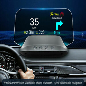 Universal Gps Hud Digital Head Up Display Car Truck Speedometer Speed Navigation