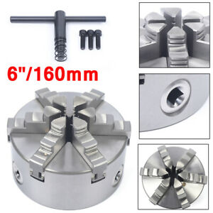 Hardened Steel 6 6 claw 160mm Self centering Lathe Chuck Cnc Milling Drilling
