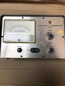 Vintage Rca Ultra sensitive Dc Microammeter For Parts Only