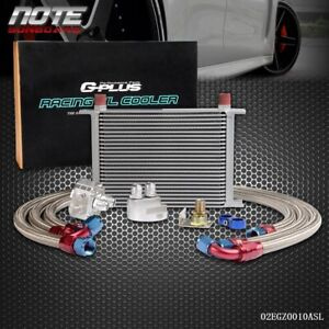 Universal 25 Row An10 Engine Transmission Race Oil Cooler Filter Relocation Kit