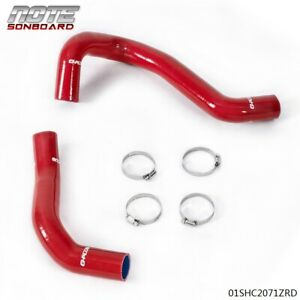 For Toyota 2007 2017 Tundra 5 7l V8 Red Silicone Radiator Hose Clamps Kit
