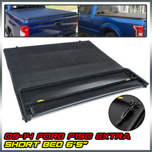 For 2009 2014 Ford F 150 Truck 6 5ft Short Bed Lock Soft Four Fold Tonneau Cover