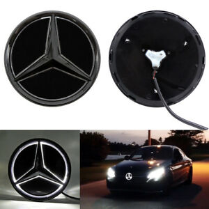 Black Car Led Star Logo Grille Light For Mercedes Benz C Cla Cls A Class 19 21