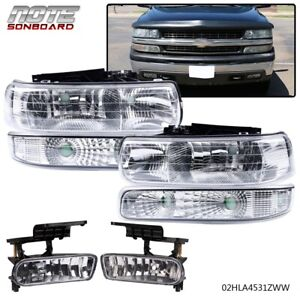 Headlights bumper Signal Lh rh Fog Lights For 99 06 Silverado Suburban Tahoe