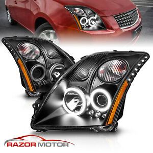 For 2007 2008 2009 Nissan Sentra Clear Amber Projector Headlights Pair
