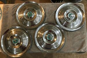 1950s Chrysler New Yorker Hubcaps Wheel Covers 15 3 Crown Crest Set Of 4