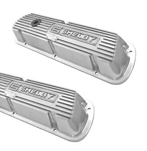New Shelby Gt350 Mustang Valve Covers Cobra Ford Aluminum Polished 289 Hipo Pair