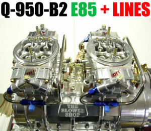 Quick Fuel Q 950 b2 E85 950 Cfm Blower Supercharger Carbs Clear Color Line Kit