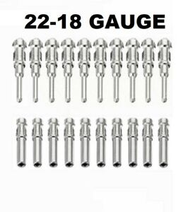 10 Pairs Deutsch Dtm Stamped Pin Connector Male And Female 20pc Terminal 22 18ga