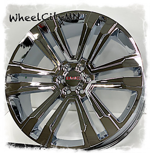 26 Inch Chrome Gmc Sierra 1500 Yukon Denali Oe Replica 5822 Wheels 6x5 5 30