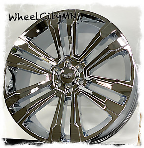 26 Inch Chrome Cadillac Escalade Esv Platinum Oe Replica 5822 Wheels 6x5 5 30