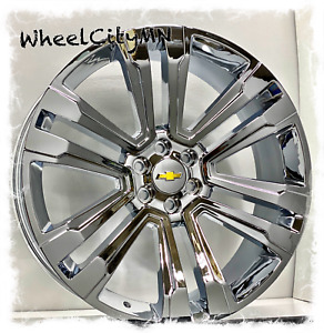 26 X10 Inch Chrome Chevy Silverado Tahoe Ltz Oe Replica 5822 Wheels 6x5 5 30