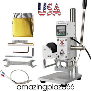 Digital Hot Foil Stamping Machine Leather Pvc Card Embossing Bronzing 5x7cm Usa