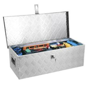 29 Aluminum Storage Tool Box Trailer Rv Flatbed Tongue Lockable Storage Box