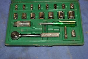 Sk 1 4 3 8 Socket Set 20 Sae Pieces Case