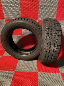 2x Used 205 60 R16 Bridgestone Blizzak Ws80 Snow Tires 10 32 Tread 205 60 16