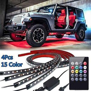 8 Color Led Strip Under Car Truck Tube Underglow Underbody System Neon Light Kit