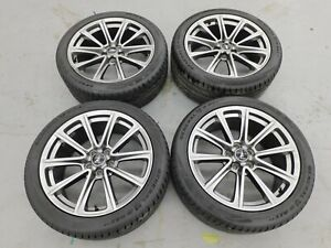 2015 2019 Ford Mustang Gt Premium 19 X8 5 Rims And Tires Set Oem