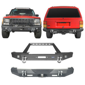 Fit 1984 2001 Jeep Cherokee Xj Steel Textured Front Bumper Or Rear Bumper Bar