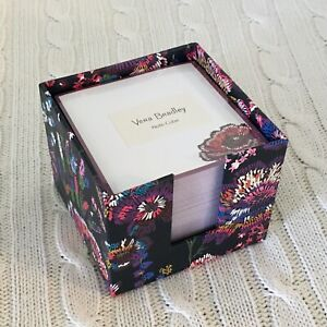 Vera Bradley Note Cube Midnight Wildflowers 400 Loose Papers Nwt Exact