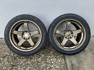 18 Rays Nismo Lm Gt4 Pair Rear 18 X 9 5 30 Lmgt4 Nissan S14 S15 300zx 350z
