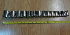 Made In Usa Craftsman 1 2 Drive Large Metric Socket Set 17mm 32mm 14pc New