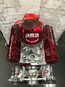 383 Stroker Crate Engine 525hp Sbc With A C Roller Turn Key Motor 350 383 383