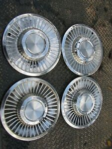 1958 58 Ford Fairlane 14 Inch In Hubcaps Wheel Covers Set Of 4 Oem