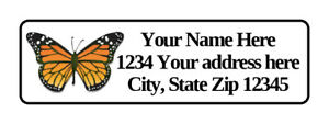 400 Personalized Monarch Butterfly Return Address Labels 1 2 Inch By 1 3 4 Inch