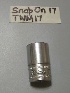 Snap on twm17 1 2dr 17mm Socket Shallow 6 Point free Shipping