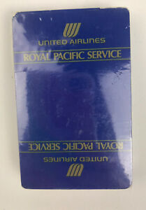 United Airlines Royal Pacific Service Playing Cards in Torn Sealed Packaged $7.19