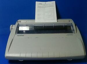 Brother Gx 6750 Correctronic Electronic Typewriter With Cover Tested Working