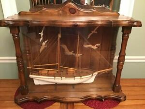 Hand Crafted Double Masted Wooden Schooner Ship Model