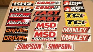 Lot Of 20 Contingency Racing Stickers Decals Large Original Nhra Nascar New